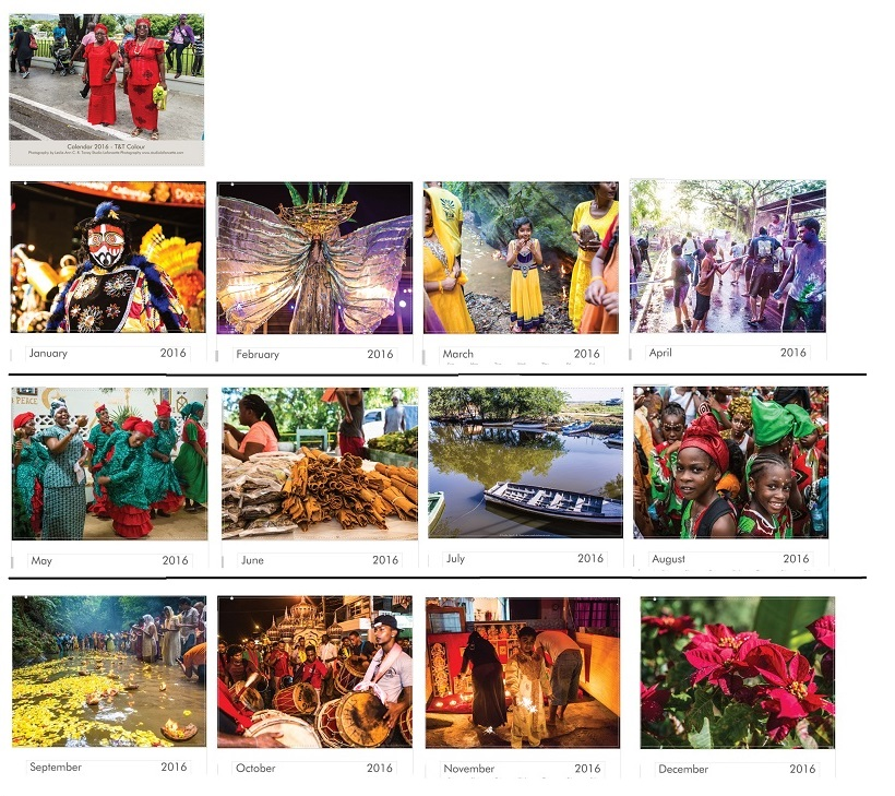 Calendar 2016 Colors of Trinidad